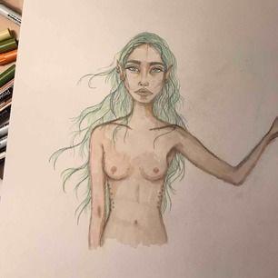 Super fin teckning som jag gjort på aquarelle papper✌🏼💕💞extremt fin och tog ca 1 dag att göra