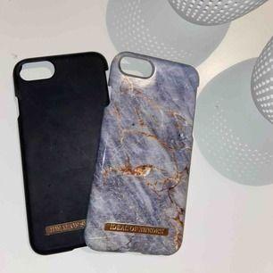 Säljer dessa två skalen från ideal of sweden. Passar för IPhone 6,7,8. 100kr för båda skalen annars 60kr st. Frakt 20kr