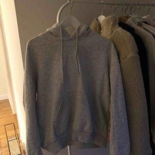 Basic, snygg, grå hoodie från Weekday⭐️