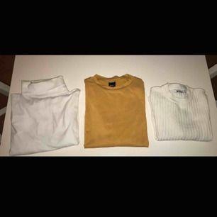 Skitsnygga långärmade tröjor som inte kommer till någon användning 1a snygg polo tröja i storlek S, 50kr 2a gul halvpolo tröja från Ginatricot i storlek S, 40kr 3e vit ribbad tröja från Ginatricot i storlek XS, 50kr Kan mötas upp i Stockholm eller frakta
