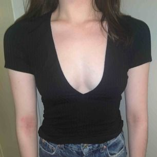 Stretchy top with low front, great with or without bra