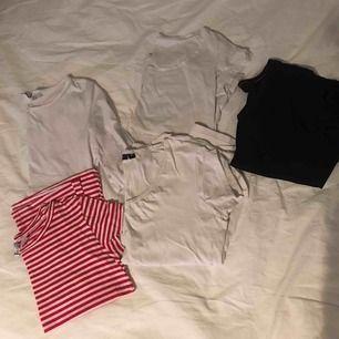 diverse olika t-shirts och en långärmad! från storlek xs-m, fint skick allihop! 40kr/st