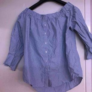 Randig fin blus köpt på New yorker, använd fåtal gånger. Storlek L, kan mötas upp o Växjö/Alvesta annars betalar köparen frakt!