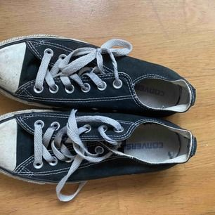 Svarta converse som är använda en del, men dock aldrig tvättade. Storlek: 37