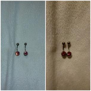 Navelpiercing i kirurgisk stål med rosa sten.  ( alla piercings smycken är kokade i saltvatten samt tvättad med piercing sprej ) ( Köparen står för frakten 9kr ) OBS FINNS BARA EN KVAR