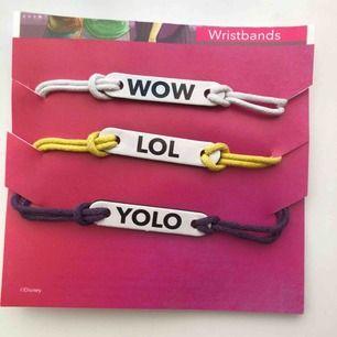 3st wristband som är oanvända! Frakt +11kr. 🌺