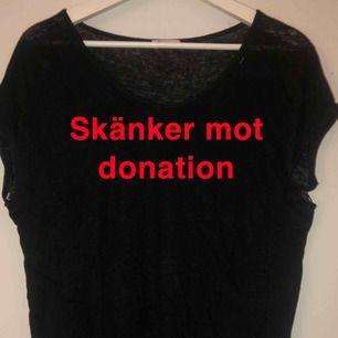 Skänker bort 2 t-shirts mot att du donerar minst 10kr till valfri organisation! Båda är i M