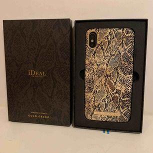 Säljer iDeal of Sweden skal GOLD GECKO som passar till iPhone XS MAX, oanvänd och kartong finns.