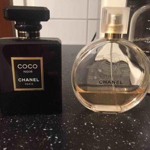 Äkta Chanel parfymer , cirka 30ml kvar i Noire och 25 ml i den andra .Säljer båda för 250kr.