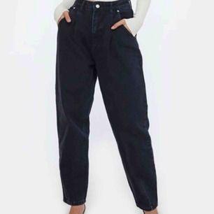 Jeans från Chiquelle, köpte två storlekar och dessa var för stora, sköna att röra sig i, ej stretchiga men oversize så passar nog s/m