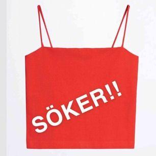 SÖKER!!!! Söker detta röda linne från Gina Tricot i storlek M :) Skriv om ni vill sälja!