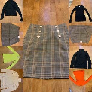Helt nya kjolar och tröjor ny pris mellan 200-500kr st Fel köp vid jul men råka slängt kvittot så kan ej bytta/lämna tillbaka säljer de för 150kr st