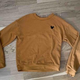 Senaps gul långärmad tröja från H&M. Storlek XS men passar även S. Musse Pigg på bröstet. Helt oanvänd , inga fläckar eller hål. Köparen står för frakten.