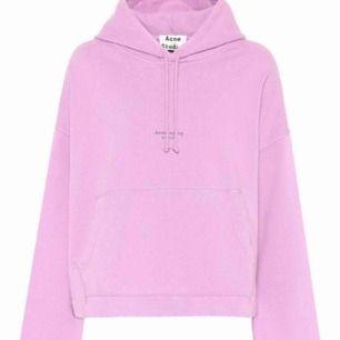Acne hoodie, ljus rosa, som nyskick. Inköpspris: 2100kr. Mitt pris: 1400.