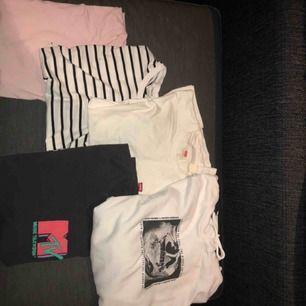Säljer 5 tröjor varav tre är från H&M, en från filippa K herr och en från levis (köpt på carlings för 1 år sedan. Säljer dessa för de har blivit för små och har tappat användning