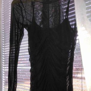 Tight klänning med ett övre lager av mesh! Tyget är väldigt stretchigt så klänningen sitter väldigt bra på kroppen (hade tyvärr ingen bild på då men kan fixa om det önskas!) Kan mötas upp i Gävle, annars kostar frakt 40kr💞