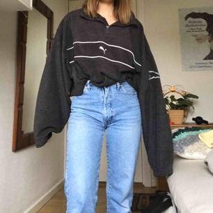 Oversized avklippt puma-fleece! Unik och retro!