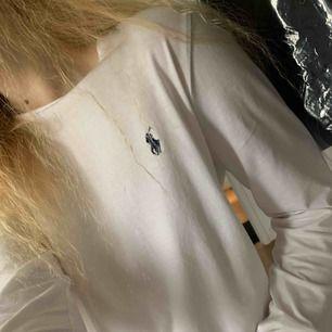 Egentligen mer slim fit långärmad tröja från ralph lauren!! Köptes dock som oversize av mig som är S, så den är typ kort men bredare! Jättefint skick pga knappt använd & är inköpt för 800 🥰