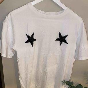 Stor T-shirt med tryck
