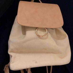 En fin ryggsäck från Lindex som är köpt för ca 2 år sen. Den är väldigt fin men har bara inte kommit till användning tyvärr:)
