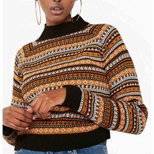 Stickad tröja från Monki i jättefint mönster! Använd 1 gång