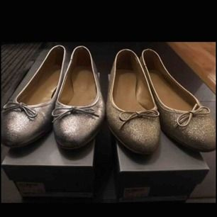 Silver och guld glittriga ballerina.