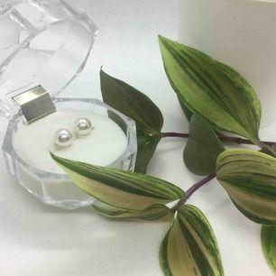 Material : äkta Swarovski kristall täckts med skimrande pärlemoryta  Metal : silver 925 / stämplat  Storlek : 6mm