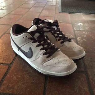 SB Dunk Low skor. Använda för skate en gång och utomhus ett antal men har klarat sig mycket bra och är i bra skick!
