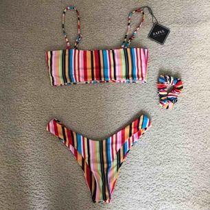 Säljer min fina bikini som jag aldrig använt då jag råkade beställa två av samma. Den är ifrån Zaful och storlek S.🥰