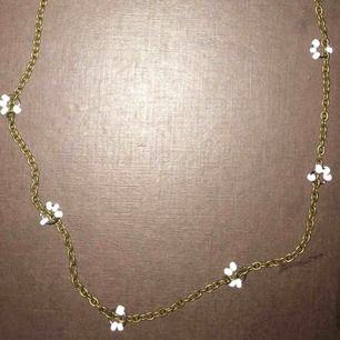 Säljer halsband för 10:- eller bud Aldrig använd  Halsband är inte i guldfärg egentligen