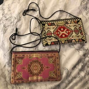Små tygväskor köpta i Kroatien, 20 kr st