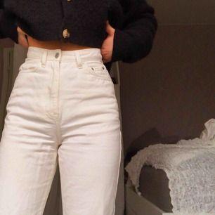 Skitsnygga vita weekday jeans med wide leg❤️