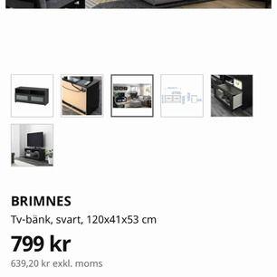 Brimnes Tvbänk från Ikea , Ca 6månader gammalt i bra skick. Säljes på grund av ändring av inrednings still.