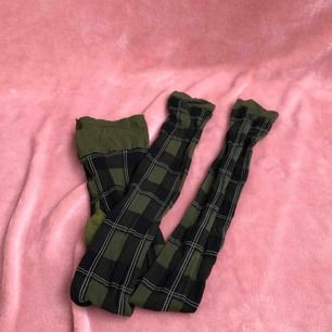 Gröna rutiga tights/strumpbyxor