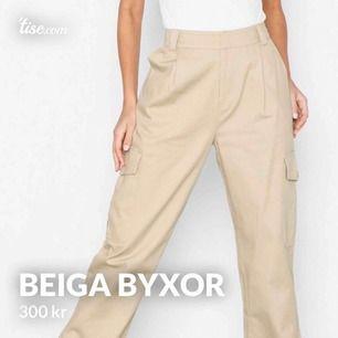 Sjuuuukt coola beiga cargo pants från Nelly. Bytt stil vilket gjort att de inte kommit till användning. Nypris 549kr, mitt pris 300kr inkl frakt:)