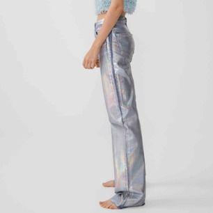 De populära byxorna från zara! Har endast använt dom vid ett tillfälle så dom är i nyskick. Dom finns inte kvar i butik,så buda!  Köp direkt för 500 kr💓