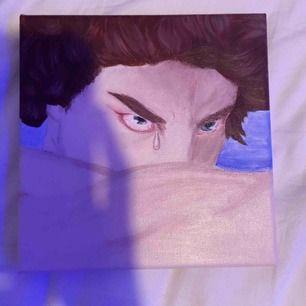 Handmålad tavla i akryl. Tavlan är 20x20cm med 19mm djup. Säljer även personliga målningar! skriv gärna vid intresse :)     Kan mötas i Stockholms området annars står köpare för frakt👍🏼