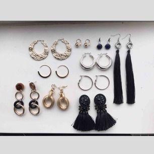 Säljer alla dessa smycken för 300kr MEN även styckvis (se min sida för fler bilder av varje par). Vissa är inte använda. Märken som hm, zara, mango, Dyrberg Kern, other stories, etc. Kan mötas upp i Stockholm men även skicka. Köparen står för frakten 🌸