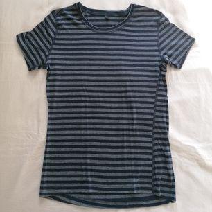 Merino/modal t-shirt från svenska märket Röjk! Blå randig, storlek S. NP ~500sek! Rök och djurfritt hem. Mötas upp i Stockholm Brommaplan/Odenplan/T-Centralen eller köparen står för frakten. Inga återköp. Tar Swish.
