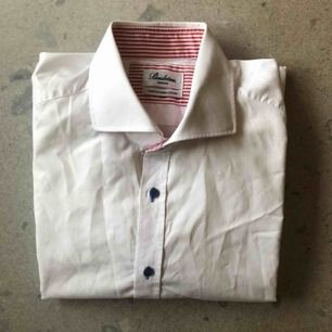"Stenströms. Vit klassisk skjorta. ""Twofold super cotton"". Slimline."