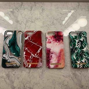 Säljer mina iPhone skal, till 6,7,8 plus då jag bytt telefon. Skalen är från ideal of Sweden, nypris 200-400 kr styck. Säljer dessa för 80kr/styck. De är som i nyskick, syns ej att de använts. 3:e skalet från vänster är designat utav Hanna licious