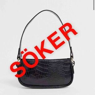 Hej där! Jag söker denna väska ifrån asos till ett bra pris (vi kan diskutera pris 🥰❤️). Skriv till mig om du har en och vill sälja, skulle vara väldigt intresserad.