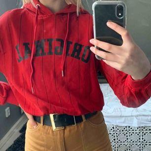 En mellanlång hoodie. Den har inga fläckar utan det är spegeln som är smutsig. Frakt tillkommer