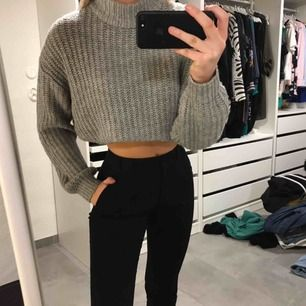 grå stickad tröja från H&M ⚡️
