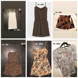 Ni ser alla priser och storlekar på bilden. Säljer allt tillsammans för 350kr inkl frakt!