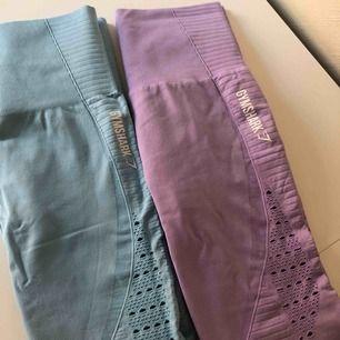 OBS. De i lila är SÅLDA. Seamless leggings från Gymshark. Samma modell på båda. 240kr/ st. Knappt använda, pga för små.