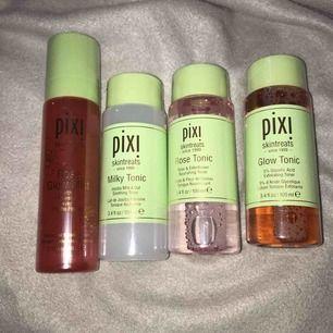 Oöppnade Pixi produkter, säljer pga felköp. Pixi Rose Glow Mist nypris 249:-, säljes för 200:-. Pixi Glow Tonic, Pixi Rose Tonic,  Pixi Milk tonic 179:- styck nypris, 130:- styck eller 300:- alla 3. Om du vill köpa allt kan du få det för 450:- ☺️