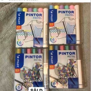 Pintor 6 pack Classic, Pastel, Metal nypris 199.- säljs för 130:-st eller 3 paket för 300:-.