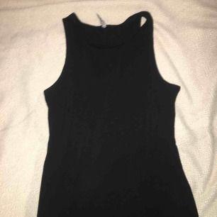 Svart klänning utan armar från Cotton On. Priset går att diskuteras :)