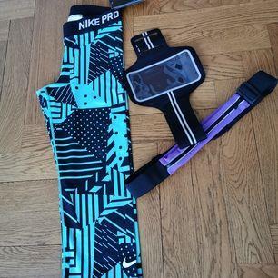Nike 3/4 byxa nya med lappar och 2 träningstillbehör. Frakt ingår 💪